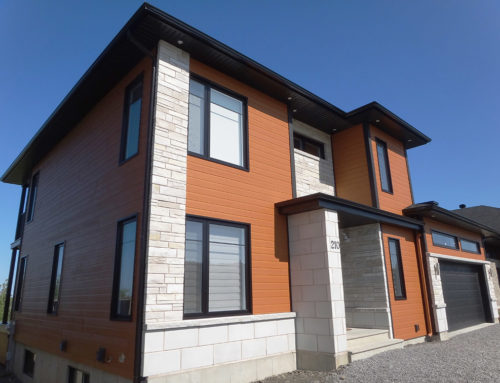 Construction contemporaine rue de Provence Rimouski